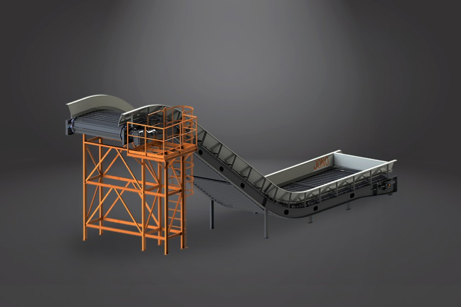 Bulky Waste Feeding Chain Belt Conveyor